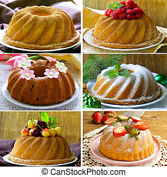 collage of different kinds of cake - collage of different...