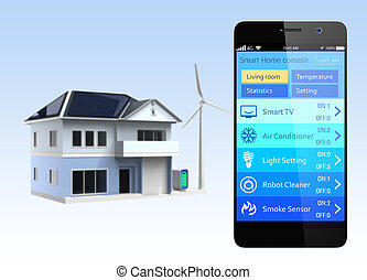 Smartphone with home automation app