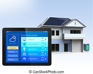 Tablet PC with home automation app