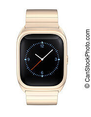 Front view of smart watch - Stylish smart watch isolated on...