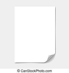 blank paper sheet with page curl illustration