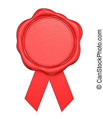 Red wax seal with blank space