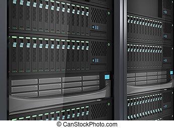 Detail of blade server system.