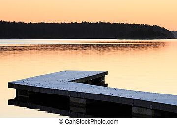 Swedish landscape with jetty