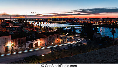 Badajoz - View from the castle of the city of Badajoz