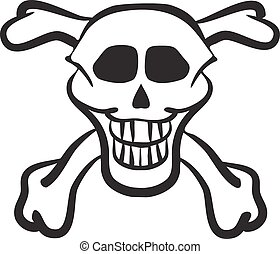 Skull and crossbones Illustration in vector format
