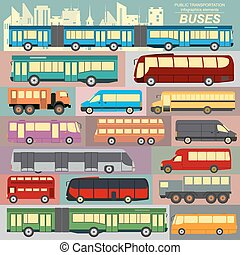 Public transportation infographics - Public transportation,...