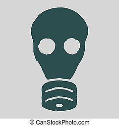 Isolated gas mask Vector grunge illustration Concept of...