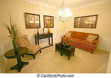 Sitting Room - An Interior Sitting Room in a Home