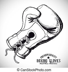 boxing label design vector illustration eps10 graphic -...