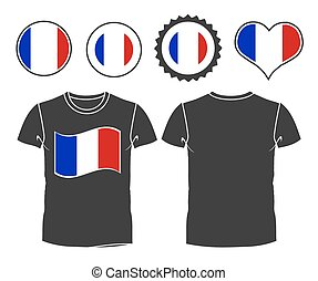 t-shirt with the flag of France - A French businessman rips...