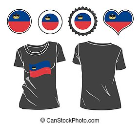 t-shirt with the flag of Liechtenstein - A Liechtenstein...