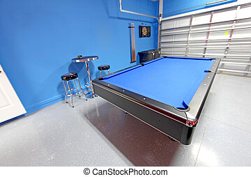 Games Room - A Games Room with Pool Table in a Garage