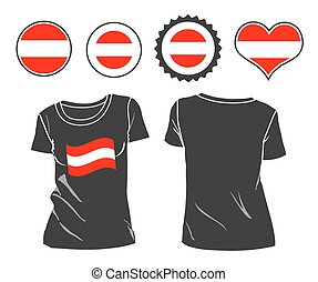 t-shirt with the flag of Austria