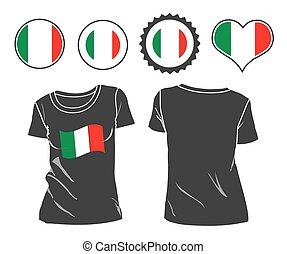 t-shirt with the flag of Italy