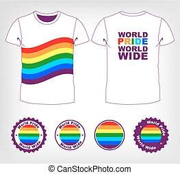 t-shirt with rainbow flag - vt-shirt with rainbow flag