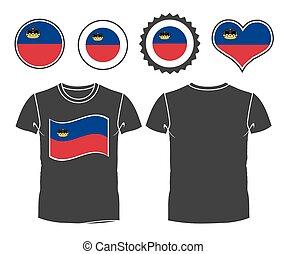t-shirt with the flag of Liechtenstein
