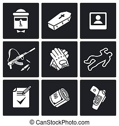 Killer Vector Icons Set - Vector Isolated Flat Icons...