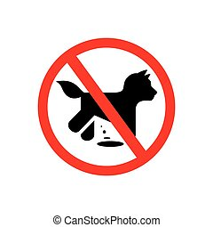 No dogs vector sign - prohibition dog walking Vector...
