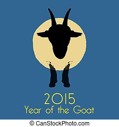 Chinese New Year of the Goat 2015. Vector illustration.