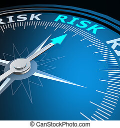 Risk word on campass image with hi-res rendered artwork that...