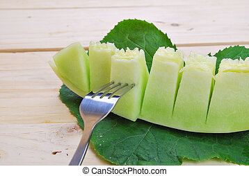 cantaloupe melon green