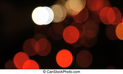 Night traffic lights bokeh - Soft focus head lights and tail...