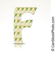 The letter F made of Fennel