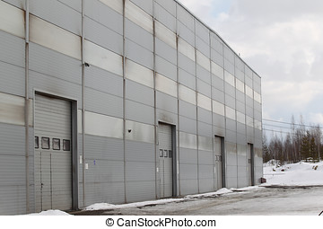 industrial building - the prospect of a modern building of...