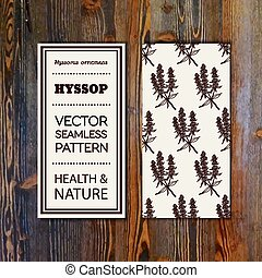 Health and Nature Collection. Banner template with herbal...