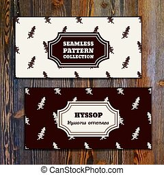 Health and Nature Collection. Banner templates with herbal...