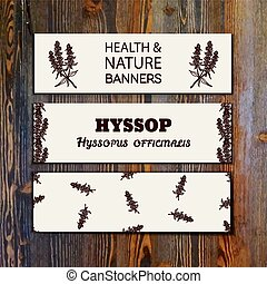 Health and Nature Collection. Collection of banners with...