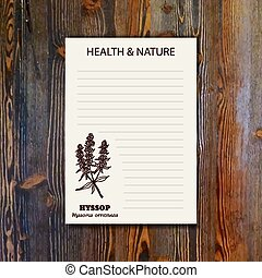 Health and Nature Collection. Banner template with a herb on...