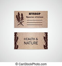 Health and Nature Collection. Cardboard business card...