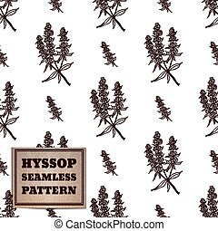 Health and Nature Collection. Seamless pattern with a herb...