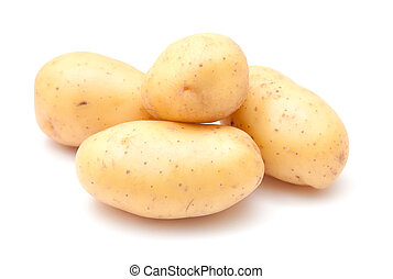 new potatoes isolated on white