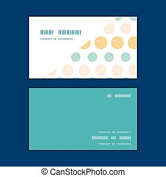 Vector texture circles stripes abstract horizontal corner frame pattern business cards set