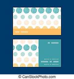 Vector texture circles stripes abstract horizontal stripe frame pattern business cards set