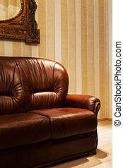 brown leather sofa - beautiful brown leather sofa in modern...