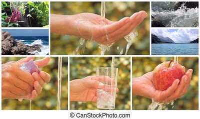 a water poetry montage - water is the most precious asset on...