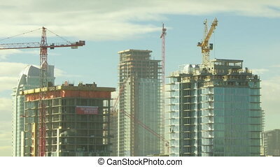 Building Construction time lapse 3 - Time lapse shot of...
