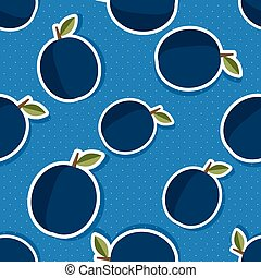 Plum pattern. Seamless texture with ripe plums. Use as a...