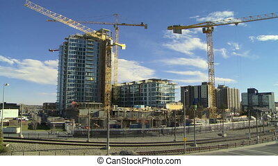 Building Construction time lapse 5 - Time lapse shot of...