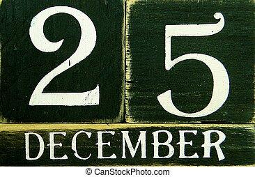 Retro-Calendar - Old, wooden calendar
