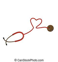 stethoscope hearth shaped - stethoscope heart shaped...