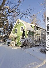 Swedish middle class home - Stockholm, Sweden - January 20,...