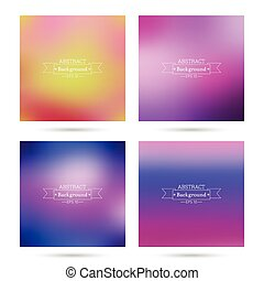Set of vector colorful abstract backgrounds blurred. -...