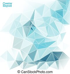 Abstract vector background with triangles and polygon mesh....