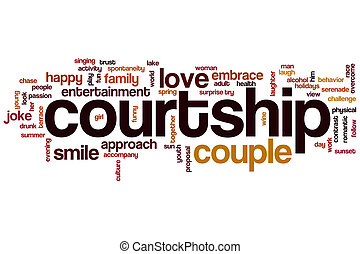 Courtship word cloud concept
