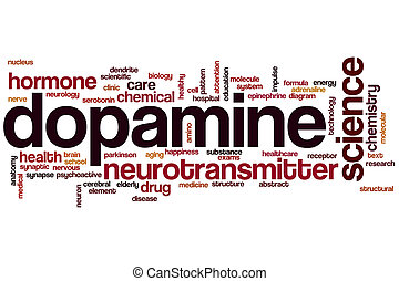 Dopamine word cloud concept